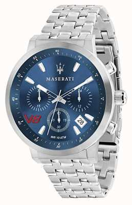 Maserati Mens gt 44mm | quadrante blu | bracciale in acciaio inossidabile R8873134002