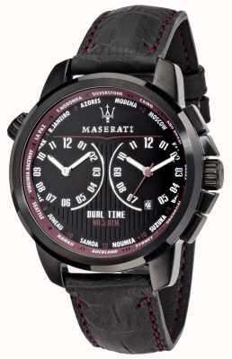 Maserati Mens successo 44mm | quadrante nero | cinturino in pelle nera R8851121002