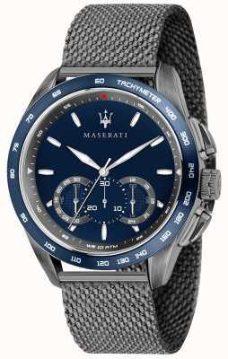 Maserati Mens traguardo 45mm | quadrante blu | cinturino in maglia grigia R8873612009