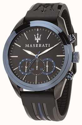 Maserati Cronografo Mens traguardo | quadrante blu | silicone nero R8871612006
