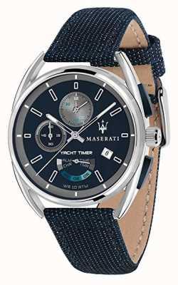 Maserati Timer di scatto Trimarano 41 | quadrante blu | cinturino in tessuto blu R8851132001