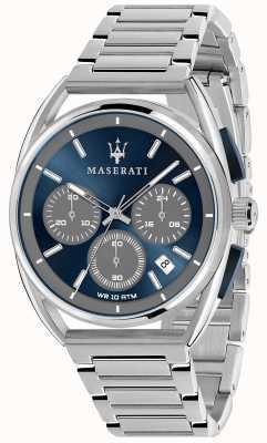 Maserati Mens trimarano 41mm | quadrante blu | bracciale in acciaio inossidabile R8873632004