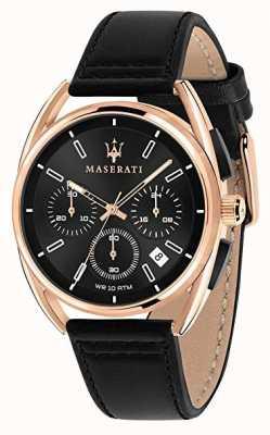 Maserati Mens trimarano 41mm | cassa in oro rosa | quadrante nero | R8871632002