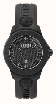Versus Versace Tokyo r | quadrante nero | cinturino in silicone nero VSP0Y2318