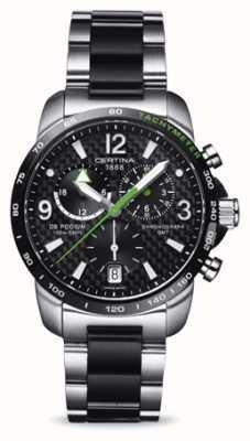 Certina Cronografo uomo ds podium gmt cronografo in acciaio inossidabile nero C0016392220702