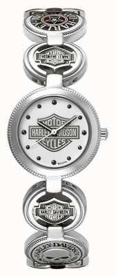 Harley Davidson Orologio da polso con bracciale da donna | acciaio inossidabile argento 76L145