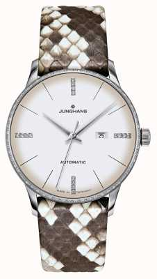 Junghans Meister damen automatic | diamanti | cinghie di pitone e lucertola 027/4847.00