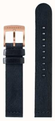 Kronaby Solo cinturino in pelle blu scuro 18mm A1000-0576