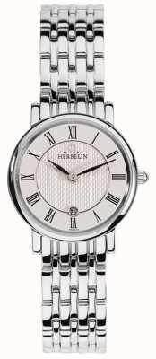 Michel Herbelin | donne | epsilon | quadrante bianco | bracciale in acciaio inossidabile 16945/B01