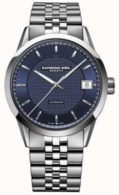 Raymond Weil Uomini | libero professionista blu scuro | orologio automatico 2740-ST-50021