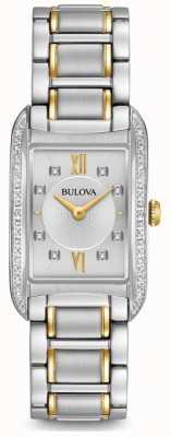 Bulova Quarzo da donna con diamanti argentati 98R227
