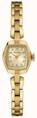 Bulova Quarzo placcato oro femminile 97L155
