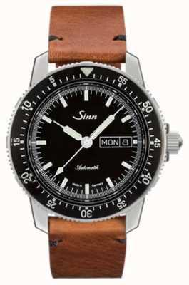 Sinn St sa i classico orologio da pilota in pelle di vacchetta vintage 104.010-BL50205002401A