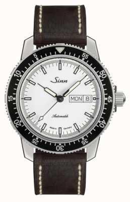 Sinn St sa iw classico orologio da pilota in pelle di vitello marrone chiaro vintage l 104.012-BL50202002007125401A