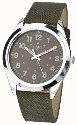 Limit Uomo | orologio in stile militare | cinturino verde kaki e quadrante verde 5951