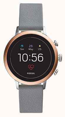 Fossil Collegato q venture hr cinturino in silicone grigio orologio intelligente FTW6016