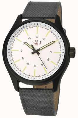 Limit | uomo | cinturino in nylon nero | quadrante bianco | 5949.01