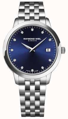 Raymond Weil Tentata femminile | quadrante blu | bracciale in acciaio inossidabile 5988-ST-50081