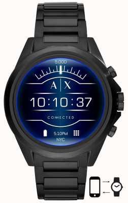 Armani Exchange Drexler nero | acciaio inossidabile | orologio intelligente AXT2002