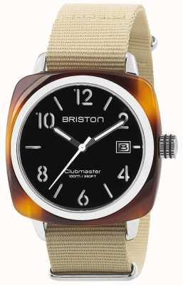 Briston Quadrante nero in acciaio tortoise acetato 40 mm 13240.SA.T.1.NK