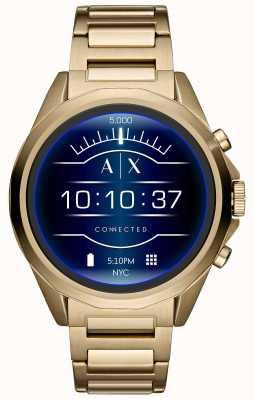 Armani Exchange Placcato in oro con schermo tattile smartwatch collegato AXT2001