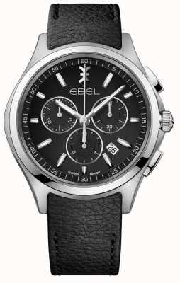 EBEL | orologio cronografo da uomo | cinturino in pelle nera | 1216343
