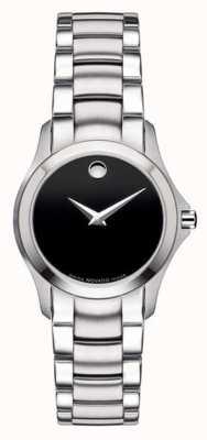Movado | orologio militare in acciaio da donna | quadrante nero | 0605870
