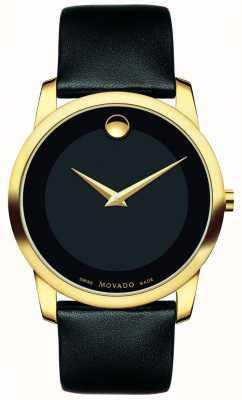 Movado | orologio classico da uomo museo | pelle nera | 0606876