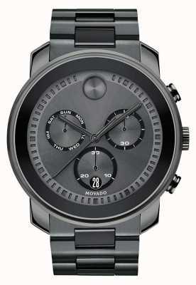 Movado | orologio cronografo da uomo in grassetto | acciaio grigio canna di fucile | 3600486