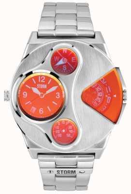 STORM | v2 navigator lazer rosso orologio dual time in acciaio inossidabile | 47246/R