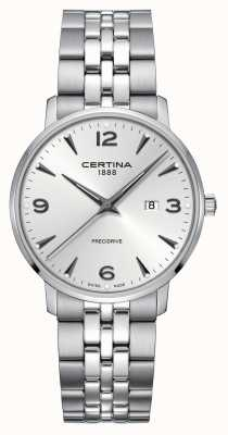 Certina Quadrante argentato in acciaio inossidabile Mens ds caimano C0354101103700