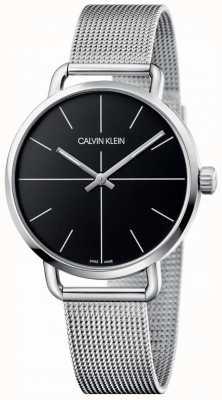 Calvin Klein   maglia femminile dell'acciaio inossidabile anche media   quadrante nero   K7B21121