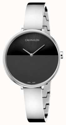 Calvin Klein | bracciale donna acciaio inossidabile | quadrante nero | K7A23141