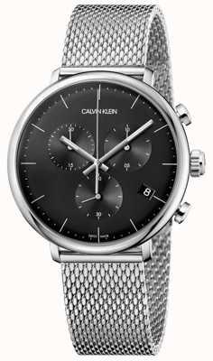 Calvin Klein | uomo alto mezzogiorno in acciaio inox | cronografo | K8M27121