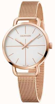 Calvin Klein   orologio di estensione da donna   maglia in oro rosa oro   K7B23626