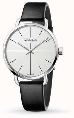 Calvin Klein | persino l'orologio di estensione | cinturino in pelle nera | quadrante bianco | K7B211CY