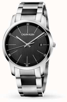 Calvin Klein | città degli uomini | cinturino in acciaio inossidabile bicolore | K2G2G1B1