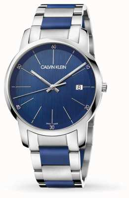 Calvin Klein | estensione città maschile | acciaio inossidabile bicolore | quadrante blu K2G2G1VN