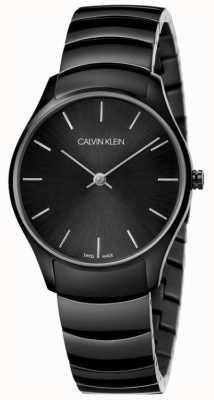 Calvin Klein   classico anche orologio   bracciale in acciaio inossidabile nero   K4D22441