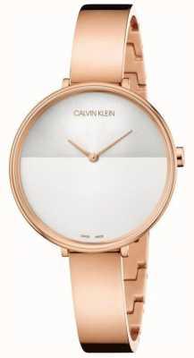 Calvin Klein   estensione aumento delle donne   bracciale in oro rosa   quadrante due toni K7A23646