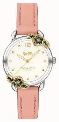 Coach | orologio delancey delle donne | pelle rosa e acciaio inossidabile | 14503239