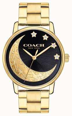 Coach | grande orologio femminile | oro con dettagli di luna sul viso | 14503278