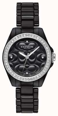 Coach | orologio sportivo moderno | faccia nera | cinturino nero | 14503255