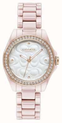 Coach | orologio sportivo moderno da donna | rosa con la faccia bianca | 14503256