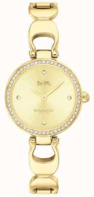 Coach | orologio da parco delle donne | faccia oro cinturino in oro | 14503171
