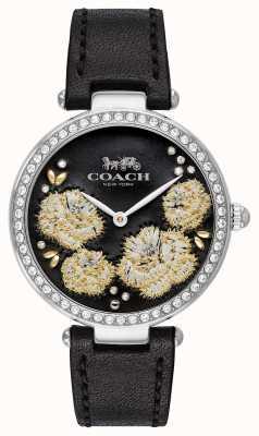 Coach | orologio da parco delle donne | quadrante nero cinturino in pelle nera 14503283