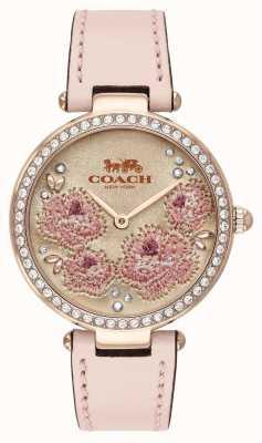 Coach | orologio da parco delle donne | cinturino in pelle rosa | 14503285