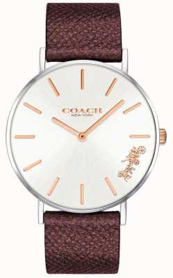 Coach | orologio da donna perry | cinturino in pelle rossa | 14503154