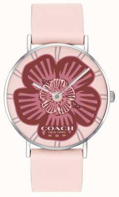 Coach | orologio da donna perry | cinturino in pelle rosa | quadrante floreale | 14503231