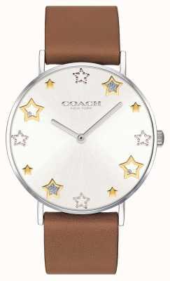 Coach | orologio da donna perry | cinturino in pelle marrone | 14503242